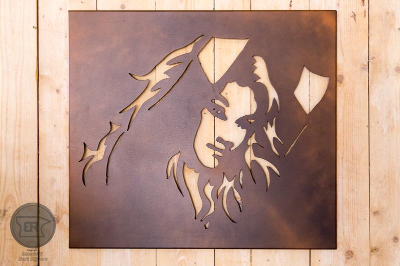 muur paneel vrouw