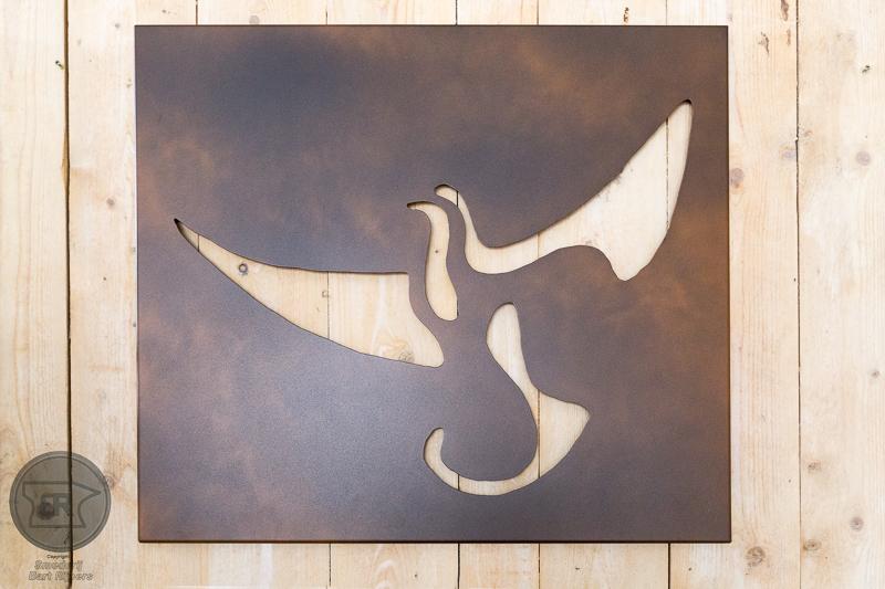 muur paneel vogel